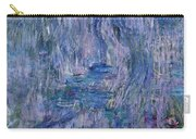 Waterlilies And Reflections Of A Willow Tree Carry-all Pouch