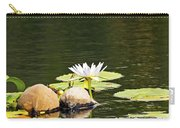 Waterlily And Coconuts Carry-all Pouch