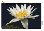Waterlily And Pad Carry-all Pouch by Susan Candelario
