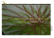 Waterlily Leaf Macro Carry-all Pouch