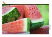 Watermelon Wedges In A Bowl Of Ice Cubes Carry-all Pouch