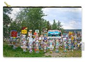 Watson Lake Sign Forest Along Alaska Highway In  Yukon-canada Carry-all Pouch