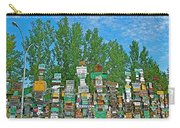 Watson Lake Sign Forest-yt Carry-all Pouch by Ruth Hager