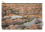 Watson Lake Sunset Carry-all Pouch by Angie Schutt