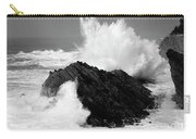 Wave At Shore Acres Bw Carry-all Pouch