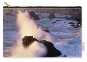 Wave Crashing On Sea Mount California Coast Carry-all Pouch