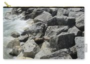 Waves And Rocks 4 Carry-all Pouch