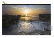 Waves At Sunrise Carry-all Pouch by Debra and Dave Vanderlaan