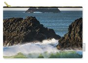 Waves Breaking At Ecola State Park Carry-all Pouch