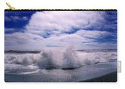 Waves Breaking At The Coast, Iceland Carry-all Pouch
