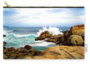 Waves Crashing On Shoreline Rocks Carry-all Pouch