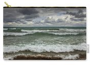 Waves Crashing On The Shore In Sturgeon Bay At Wilderness State Park Carry-all Pouch
