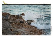 Waves Hitting The Rocks Carry-all Pouch