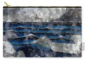 Waves - Ocean - Steel Engraving Carry-all Pouch