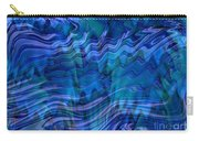Waves Of Blue - Abstract Art Carry-all Pouch