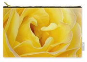 Waves Of Yellow Carry-all Pouch by Sabrina L Ryan