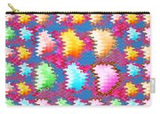 Waves Pattern Crystals Jewels Rose Flower Petals Carry-all Pouch