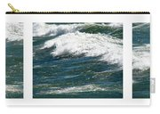 Waves Triptych Ll Carry-all Pouch