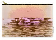 Waves With Sunset Carry-all Pouch