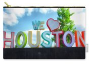 We Love Houston Texas Carry-all Pouch