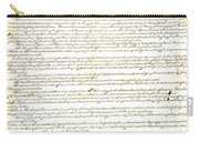 We The People Constitution Page 1 Carry-all Pouch