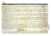 We The People Constitution Page 3 Carry-all Pouch