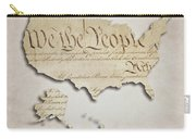 We The People - Us Constitution Map Carry-all Pouch
