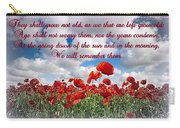 We Will Remember Them... Carry-all Pouch