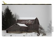 Weathered Barns In Winter Carry-all Pouch