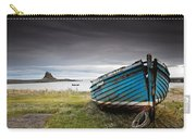 Weathered Boat On The Shore Carry-all Pouch