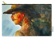 Weathered Cowboy Carry-all Pouch by Jani Freimann