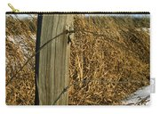 Weathered Old Fence Post Carry-all Pouch