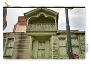 Weathered Old Green Wooden House Carry-all Pouch