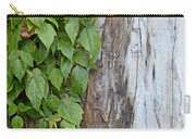 Weathered Tree Trunk With Vines Carry-all Pouch
