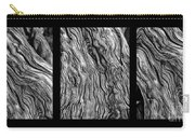 Weathered Wood Triptych Bw Carry-all Pouch