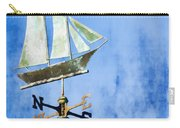 Weathervane Clipper Ship Carry-all Pouch by Carol Leigh