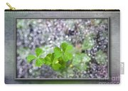 Web And Clover Art Carry-all Pouch