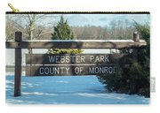 Webster Park Sign Carry-all Pouch