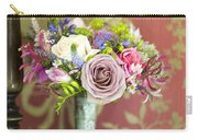Wedding Bouquet And Vintage Wallpaper Carry-all Pouch