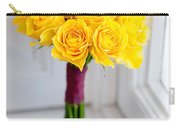 Wedding Bouquet Of Yellow Roses Carry-all Pouch