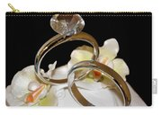 Wedding Cake Rings Black Carry-all Pouch
