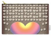 Wedding Guest Signature Book Heart Bubble Speech Shapes Carry-all Pouch