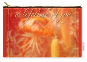 Wedding Joy Greeting Card - Turks Cap Lilies Carry-all Pouch