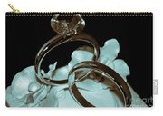 Wedding Ring Cake Topper Cyan Carry-all Pouch