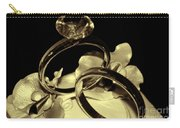 Wedding Rings Cake Top Blk Antiqued Carry-all Pouch