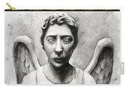 Weeping Angel Don't Blink Doctor Who Fan Art Carry-all Pouch by Olga Shvartsur