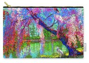 Weeping Beauty, Cherry Blossom Tree And Heron Carry-all Pouch