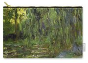 Weeping Willows The Waterlily Pond At Giverny Carry-all Pouch by Claude Monet