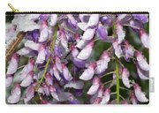 Weeping Wisteria - Spring Snow - Ice - Lavender - Flora Carry-all Pouch