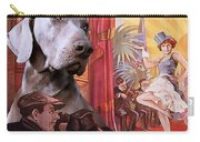 Weimaraner Art Canvas Print - Der Blaue Engel Movie Poster Carry-all Pouch